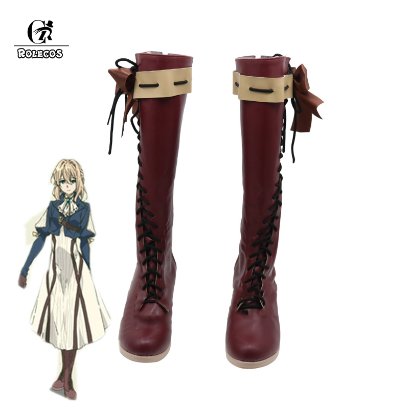 ROLECOS 2018 Japanese Anime Violet Evergarden Cosplay Women Cosplay Shoes Japanese Anime Cosplay Violet Evergarden Boots