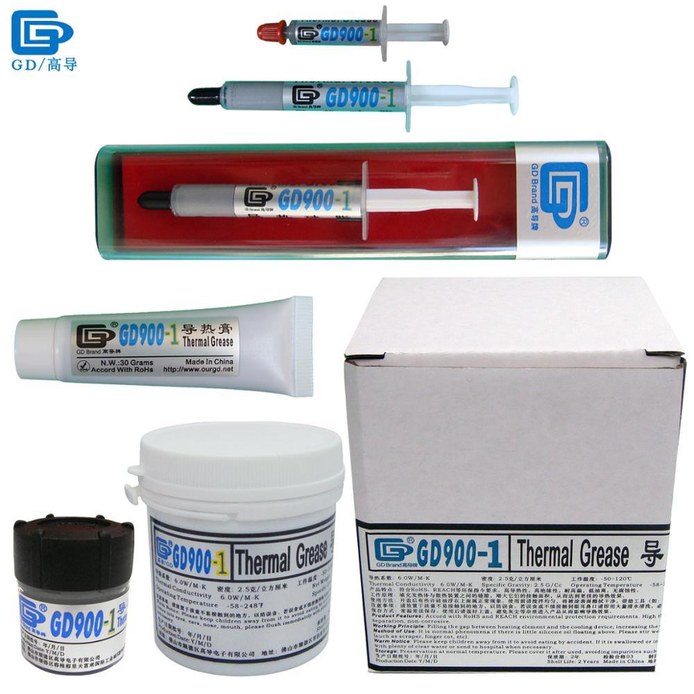 GD900-1 Conducteur Thermique Pâte de Graisse Silicone Dissipateur de Chaleur Composé Contenant Argent Gris CN30 CN150 CN1000 ST30 SSY1 SY3 BX3