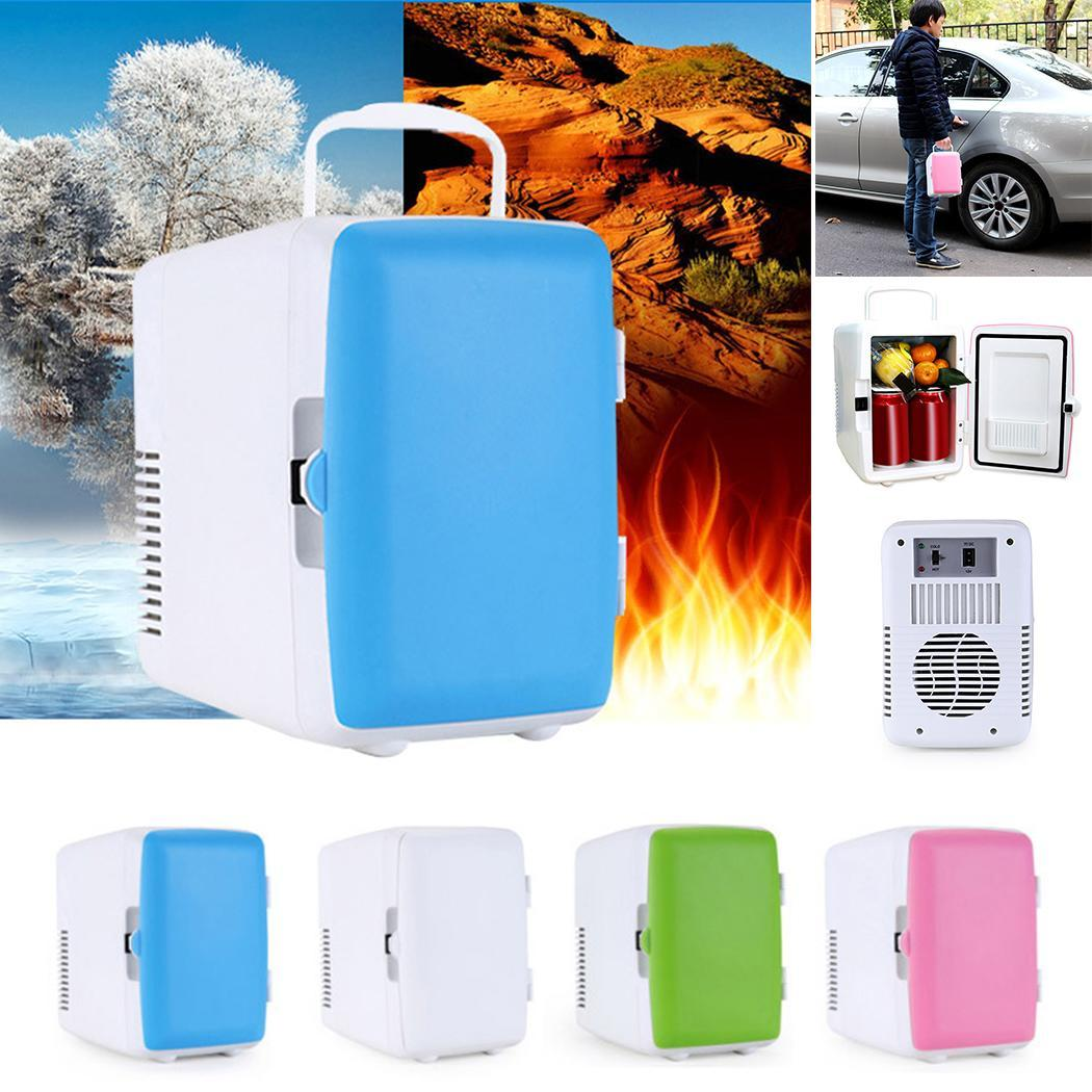 Car Use Refrigerator 4L Low Noise Car Mini Refrigerators Portable Mini Hot and Cold Refrigerator(China)