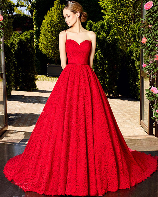 Wedding Gowns With Red: Vestido De Noiva China Bridal Gowns Simple Vintage Lace