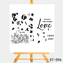 цена на AZSG Flowers are a symbol of love Clear Stamps For DIY Scrapbooking Rubber Stamp/ Seal Paper Craft Clear Stamp Card Making