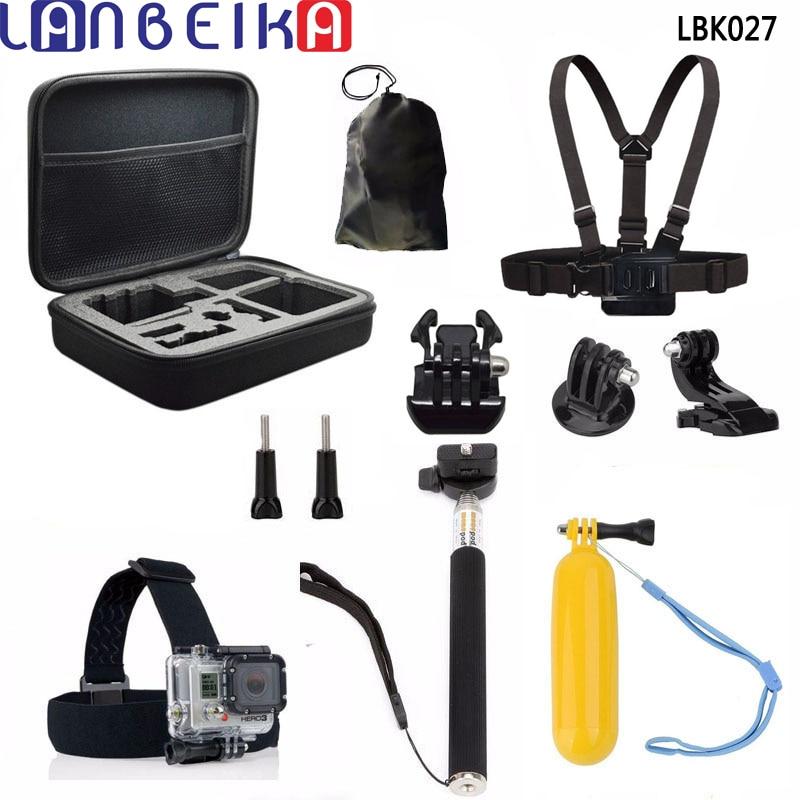 LANBEIKA For Gopro Accessories Storage Bag Case Chest Strap 11-in-1 Kits for Gopro Hero 6 5 4 3+ SJCAM SJ5000 M20 SJ6 SJ7 Camera lanbeika shockproof waterproof portable hard case box bag eva protection for sjcam m20 sj4000 sj5000 sj6 go pro hero 6 5 4 3