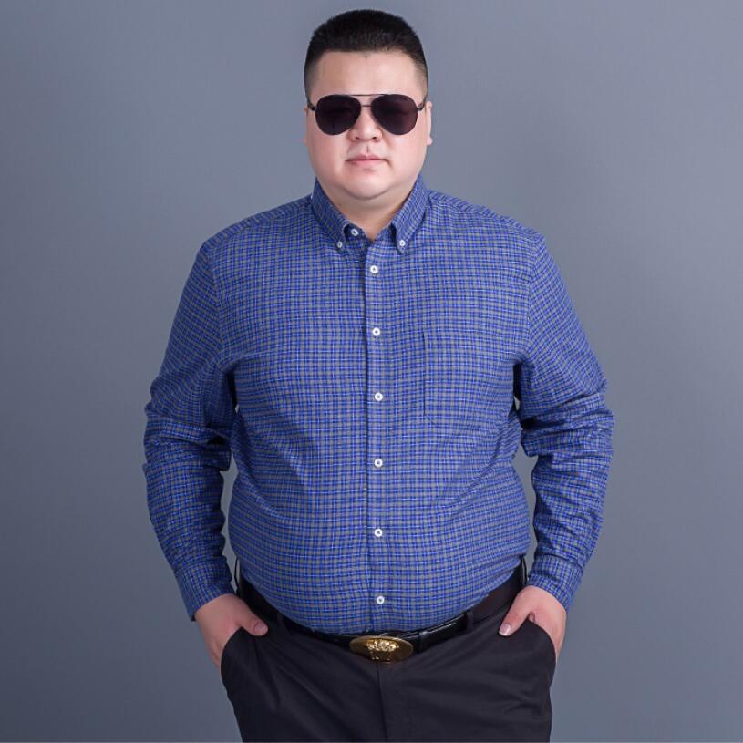 Mâle Manches Plus Coton 2 Marque Qualité De Robe La 1 Haute Taille Luxe Longues Mode Chemises Casual Gros En Hommes Plaid Bureau Armée zXTzBx