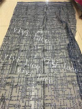 5yards hh006 # dark grey plaid dobby   luxury lovely pattern hand print sparkle glued glitter  lace for sawing/party