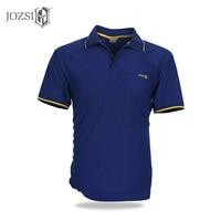 JOZSI High Quality Men POLO Shirts Short Sleeve Quick Dry Turn Down Collar Causal Male POLO