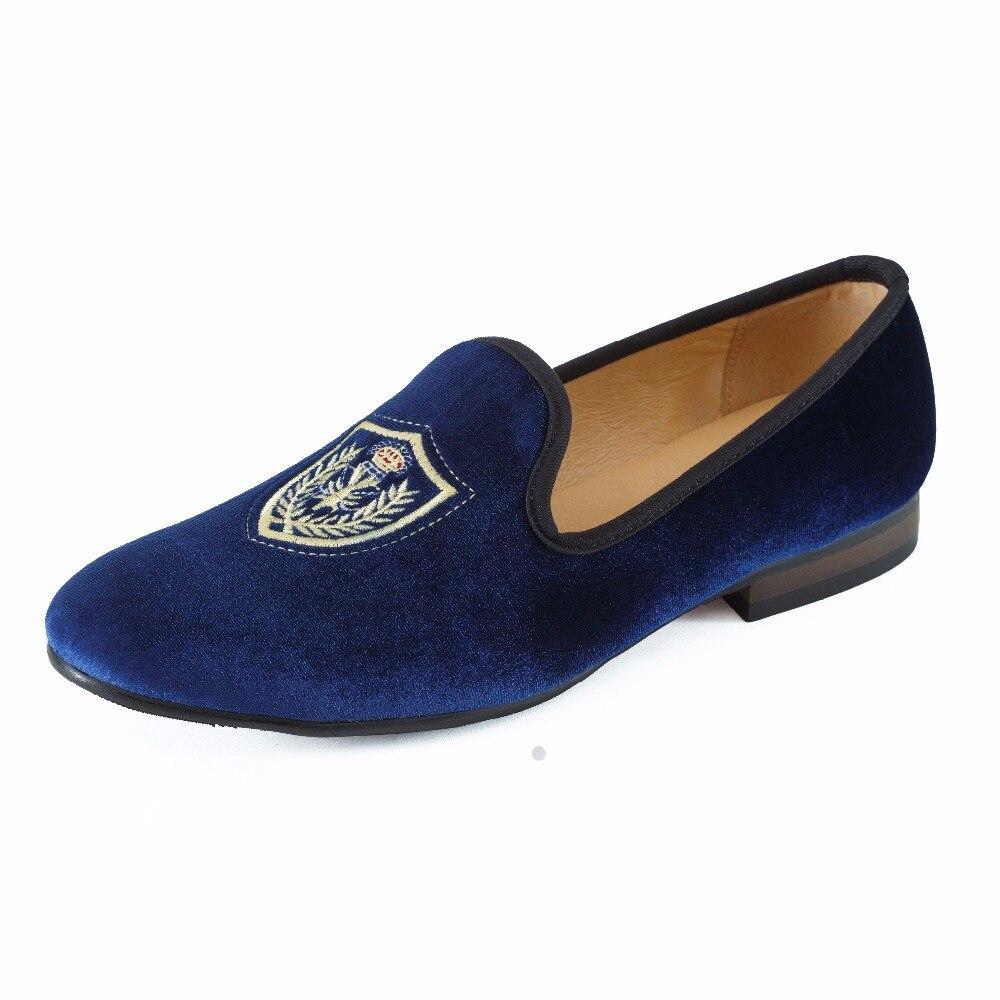 0a9d829621944 Nouveau Mode Hommes Bleu Velours Mocassins Casual Chaussures Slip on Hommes  robe Chaussures Hommes Britanniques Appartements de Partie et De Mariage  Flâneur ...