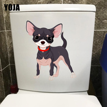 YOJA 18,4*21,8 см мультфильм Чихуахуа собака туалет стикер украшение дома Наклейки на стены T1-0286
