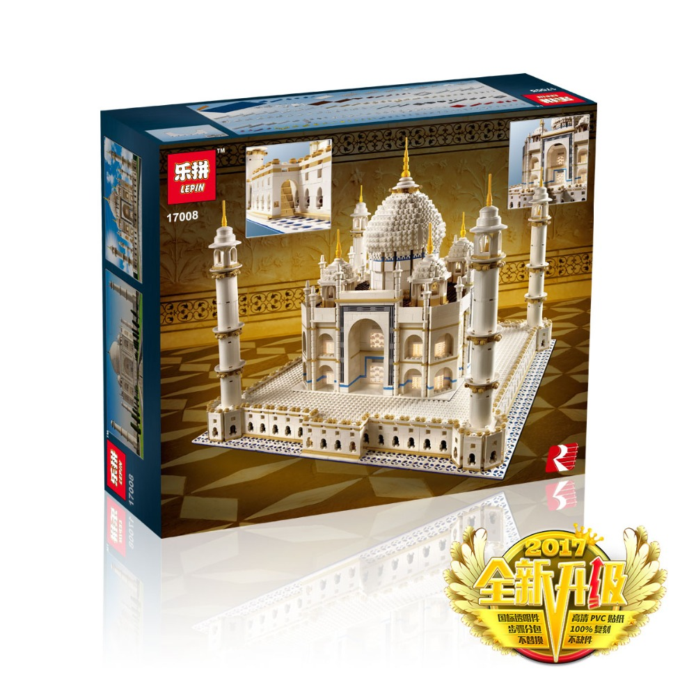 LEPIN 17008 Creator Expert Taj Mahal Model Building Kits Assembling Bricks Compatible with Lego 10256 Educational Gifts Toys a toy a dream lepin 15008 2462pcs city street creator green grocer model building kits blocks bricks compatible 10185