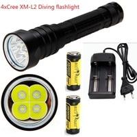 7000 Lumens Underwater Stepless Diving Flashlight Torch 4x CREE XM L L2 LED Waterproof Scuba Dive
