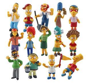 Image 5 - 14 cái/bộ The Simpsons chơi Hình Bộ Sưu Tập trang trí hành động hình Brinquedos Anime trẻ em đồ chơi bán lẻ