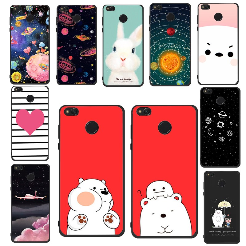 3D Case for Xiaomi Redmi 4X 4A Note 4X Fundas Silicone Moon Bear Soft TPU Back Cover Coque For Xiaomi Redmi 5A Note 4 Cases