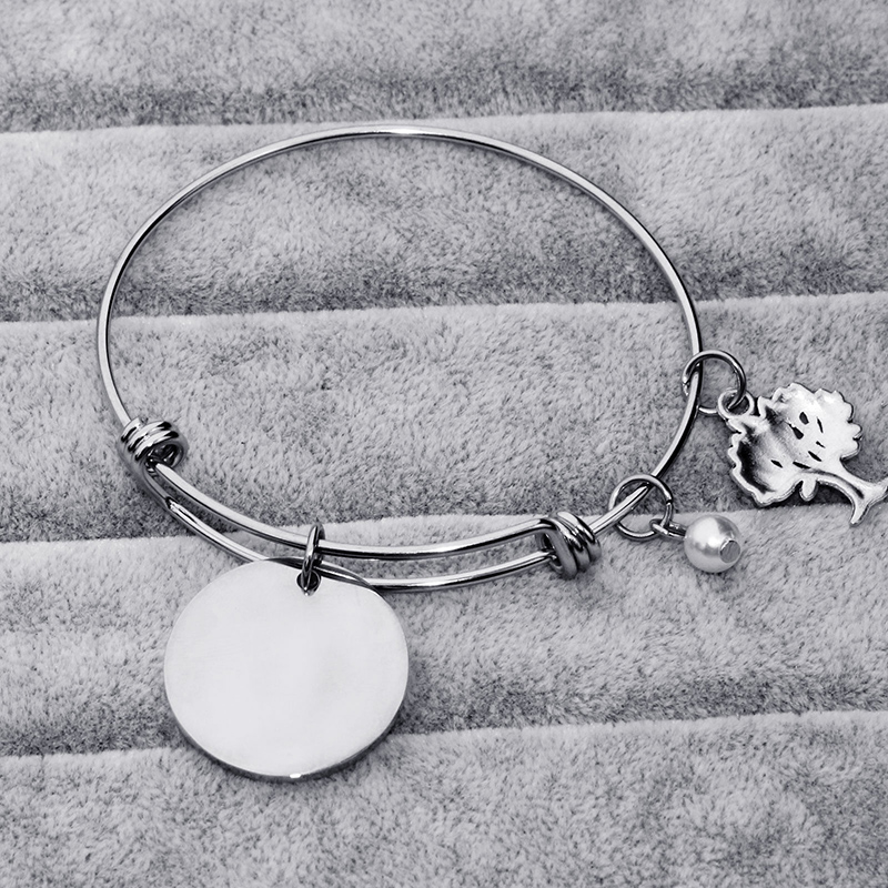 1ea5280e75 Stainless Steel Teacher Bangle Charm Bracelet Teacher Gift Appreciation  Thank You Gift from Student Personalized Teacher Jewelry-in Charm Bracelets  from ...