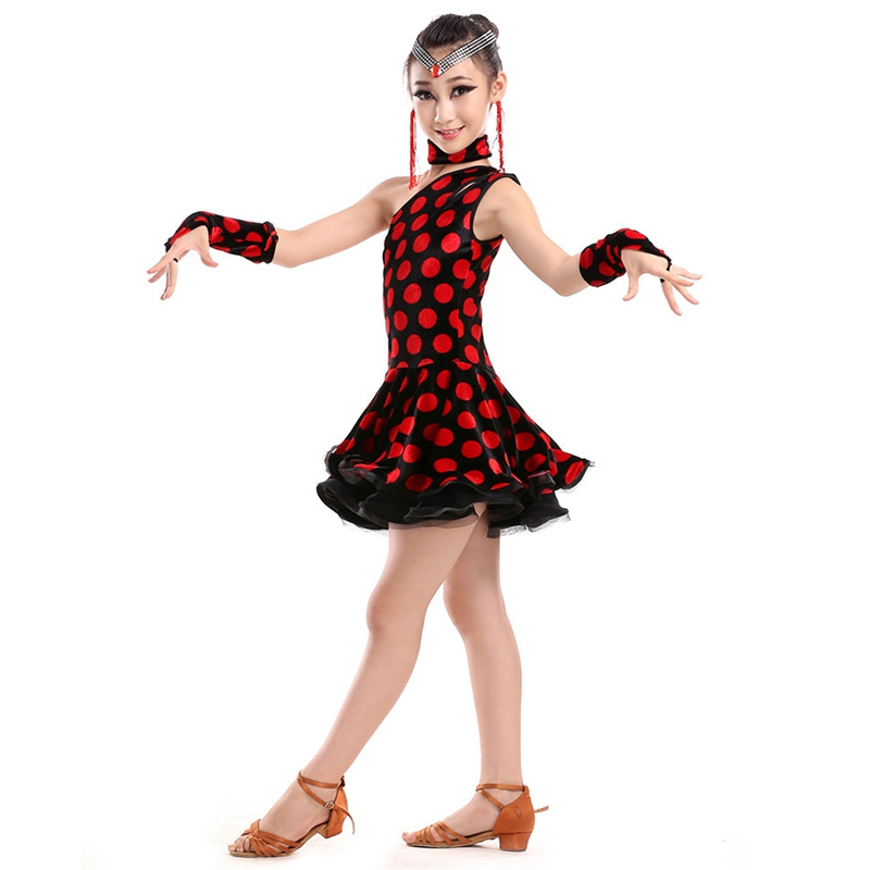 High Quality Children Girls Latin Dance Dress Suit Stage Performance Dance Wear Elegant Dancing Dresses new girls latin dance performance clothing dance clothes suit costume quilted dress