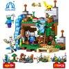Qunlong Toy Minecrafted Building Blocks 4 In 1 DIY Garden Guardian Models Bricks Toys Set Gifts
