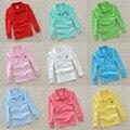 Calidad superior ropa para niños niños camisetas 2017 algodón de Las Muchachas del muchacho de manga larga 3 4 5 6 7 8 9 10 11 t camisa enojado