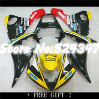 Motorcycle Fairing YZF R6 2003 2005 04 05 Yellow Black Monster Injection Fairing for YZFR6 2005 for Yamaha Nn