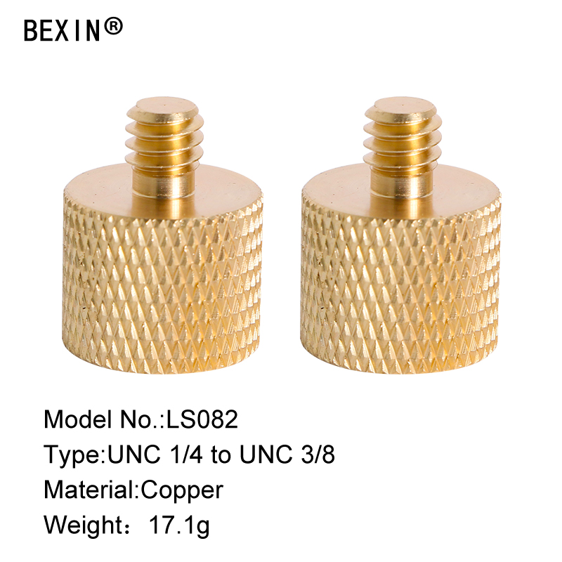 "Brass 1/4""-20 3/8""-16 Male Female Mini Tripod Thread Adapter Screw for Camera Ball Head Monopod Plate 5pcs"