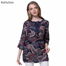 2017 New Spring Summer Women Retro Vintage Shirts Buttons 2 wear Casual Loose Long Blouse Fashion Plus Size Thin Tops Clothing