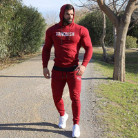2019 Winter Sport Suit Men Running Set Outdoor Jogging Gym Fitness hooded Sport Suits Basketball Trainning Clothes Running Set