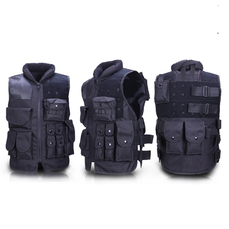 Wholesale tactical vest CS outdoor field protective equipment American black riding security / security vest free shipping protective outdoor war game military skull half face shield mask black