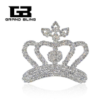 Hot Sale Bling Rhinestone Crown Brooch to Fashion Lady  FREE SHIPPING