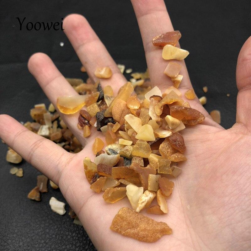 Yoowei 500g Irregular Amber Beads for Healing Original Chips Stone Rare Baltic Natural Amber Beads Pillow