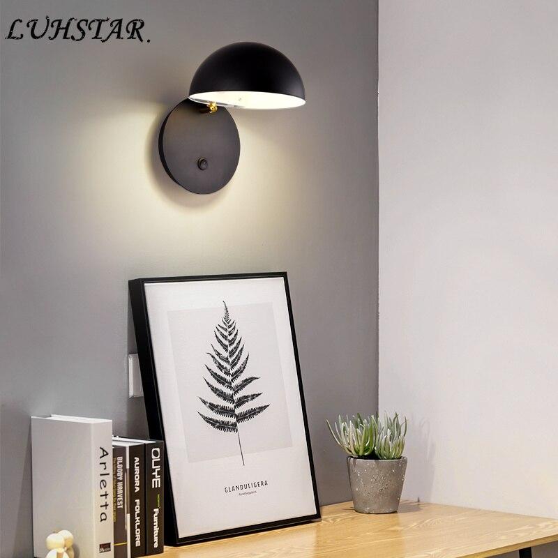 Modern Simple Led Wall Lamp Wall Decor Iron Art Wall Light Bedroom Bedside  Lamp Aisle Living Room Decoration Bathroom Light