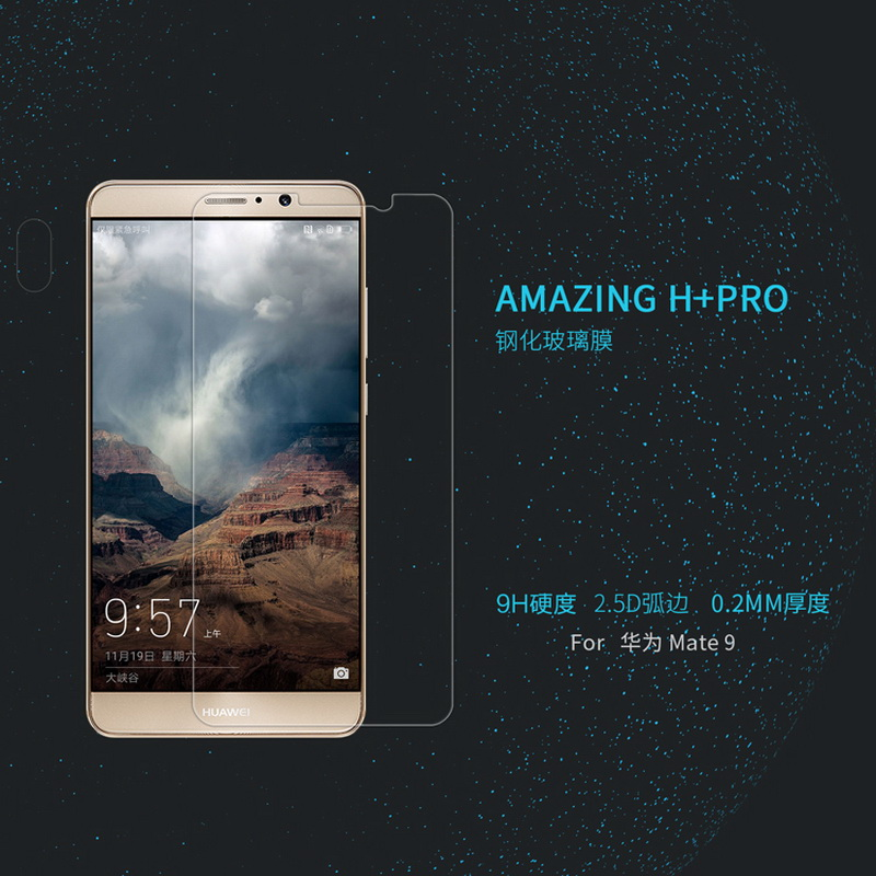 Ultratunn för Huawei Mate 9 härdat glas Mate9 Nillkin Amazing H + - Reservdelar och tillbehör för mobiltelefoner