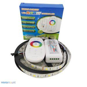 Image 4 - 5m 12V 5050 RGBWW RGBW LED רצועת IP20 IP65 IP67 עמיד למים פס סט + 2.4G RGBW מרחוק בקר + DC12V 5A כוח מתאם סט