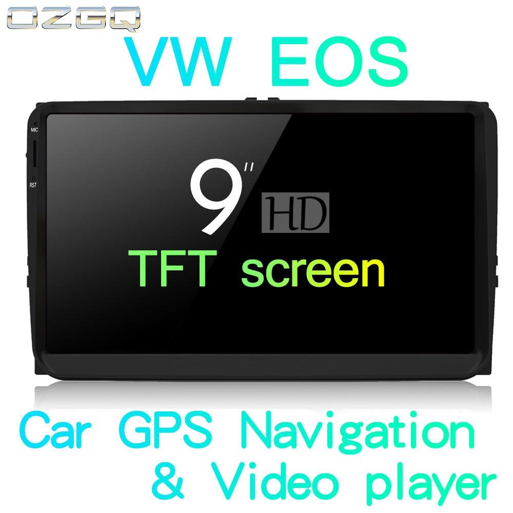 OZGQ Android 7.1 Jogador Do Carro Para VolksWagen VW EOS 2006 ~ 2015 HD tela Auto GPS de Navegação BT Rádio TV de Vídeo e Áudio Estéreo Música