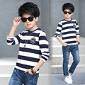 England Style Designer Baby Kid Striped Printed T-shirts Long Sleeve Boys Clothes Menino Camiseta Fashion Enfant T Shirt Top Tee