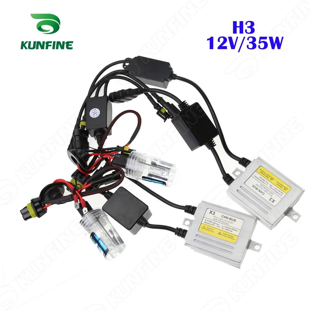 12V/35W X3 Canbus HID Conversion Xenon Kit H3 Xenon Bulb Car HID Headlight with Slim AC Ballast for Vehicle