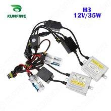 12 В/35 Вт X3 Canbus HID конверсионный ксеноновый комплект H3 ксеноновая лампа автомобильные hid-фары с тонким балласт переменного тока для автомобиля