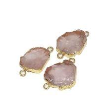 Женский соединитель из розового кварца с бриллиантами нестандартная