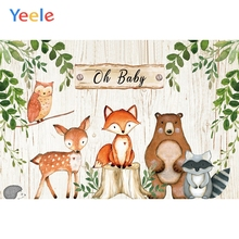 Yeele Baby Shower Backdrop Clever Cartoon Animals Photography Backdrops Personalized Photographic Backgrounds For Photo Studio