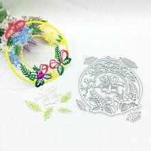 Julyarts 2019 New Flower Circle Dies Metal Cutting Die for Scrapbooking Album Card Making Crafts Gift Cut Stitch