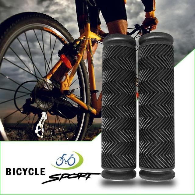 Handlebar Grips Hand Grips Cover Cushiony Cycling Bicycle Folding Bikes Black