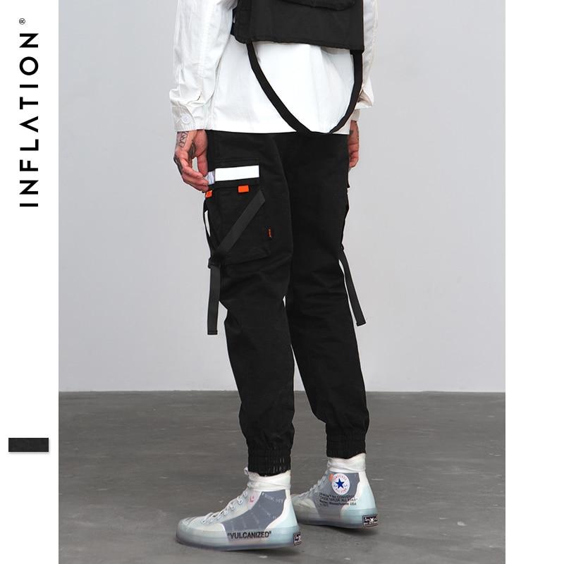La inflación Hip Hop Harem pantalón pantalones 2018 Hombre Pantalones para  hombre bolsillo cintas cintura elástica pantalones casuales pantalones de  chándal ... 92f3f09ac13