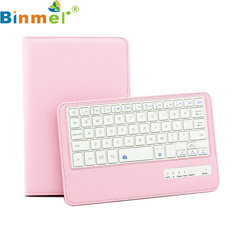 Binmer Mecall Bluetooth Keyboard Leather Case Stand For Samsung Galaxy Tab 4 T230 7