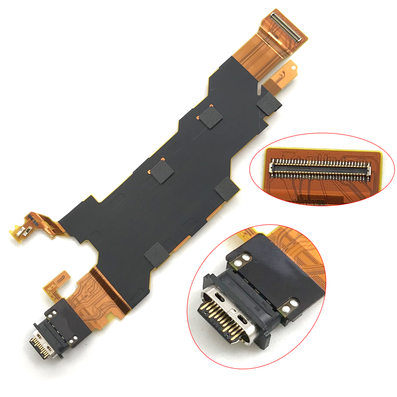 New USB Charging Port Dock Connector Charger Board Flex Cable For Sony Xperia XZ2 Replacement Part|Mobile Phone Flex Cables| |  - title=