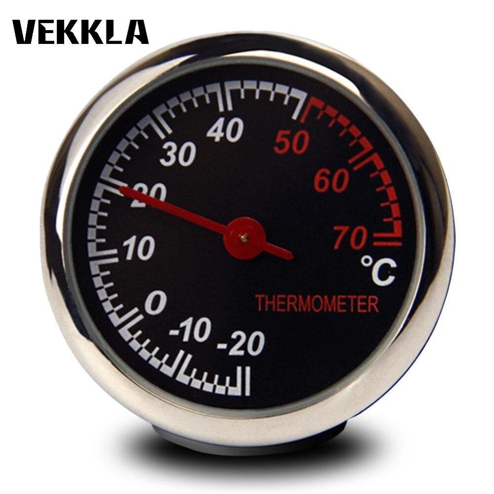 1 Stück Mini Auto Auto Automobil Thermometer Hygrometer Temperatur Instrumente Mechanik Dekoration Ornament Uhr Auto Zubehör