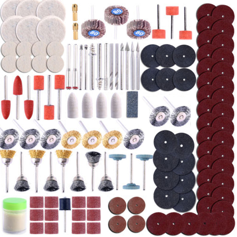 350pcs Rotary Tool Kit Woodworking Accessory Set Fits for Grinding Sanding Paper Polishing Tools Wood Cutting Abrasive Tools