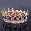Горячая Европейский дизайн royal crown королева корона красный украшения короны высокого класса мода свадебный головной убор корона красивая womanWHG0125
