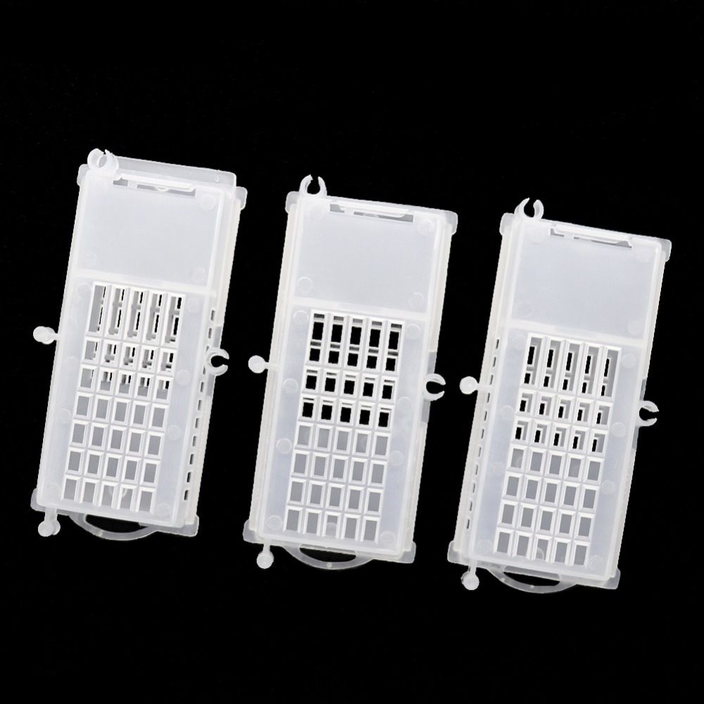 40 Pcs Bee Tools Bee Queen Cages Beehive White Transparent Queen Bee Cage Beekeeping Equipment
