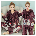 High Quality Winter Soft Flannel Floral Nursing Home Wear Tops+Pants for Pregnant Women Maternity Clothing Pajamas Factory Sale