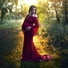 Maternity dress Lace Pregnant Clothes Dress Photography clothing women Maternity Quarter sleeve long pregnant Dress