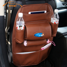 BERSAI Car Styling Leather Storage Bag Seat Chair Backpack Interior Becoration Supplies