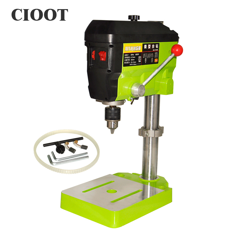 BG-5168E 680W Mini Drill Press Bench Speed Adjustable Small Drill Machine Drilling Table Bench Vise EU Plug 220v mini electric drilling machine variable speed micro drill press grinder pearl drilling diy jewelry drill machines