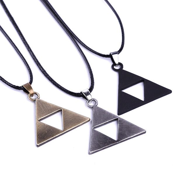 Legend Of Zelda Triforce Symbol Necklace Three Colors In Pendant
