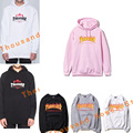 Thrasher Hoodies 2016 Men and women Trasher sweatshirts long sleeve flames alphabet printed hip-hop casual couple tops palace